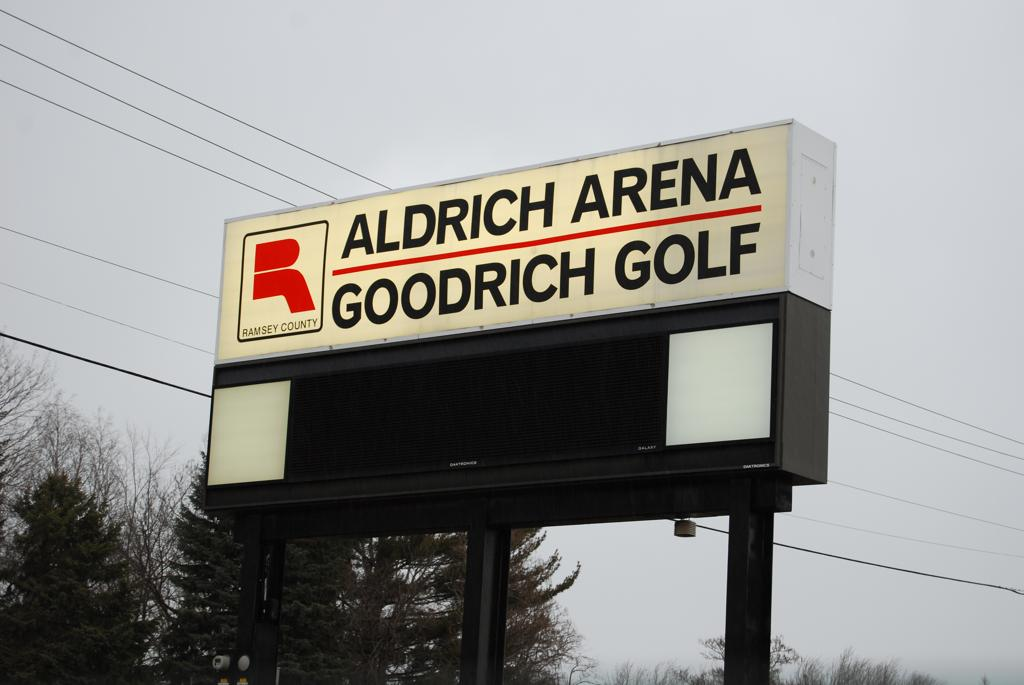 Arena sign