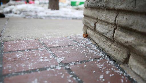 salt on path