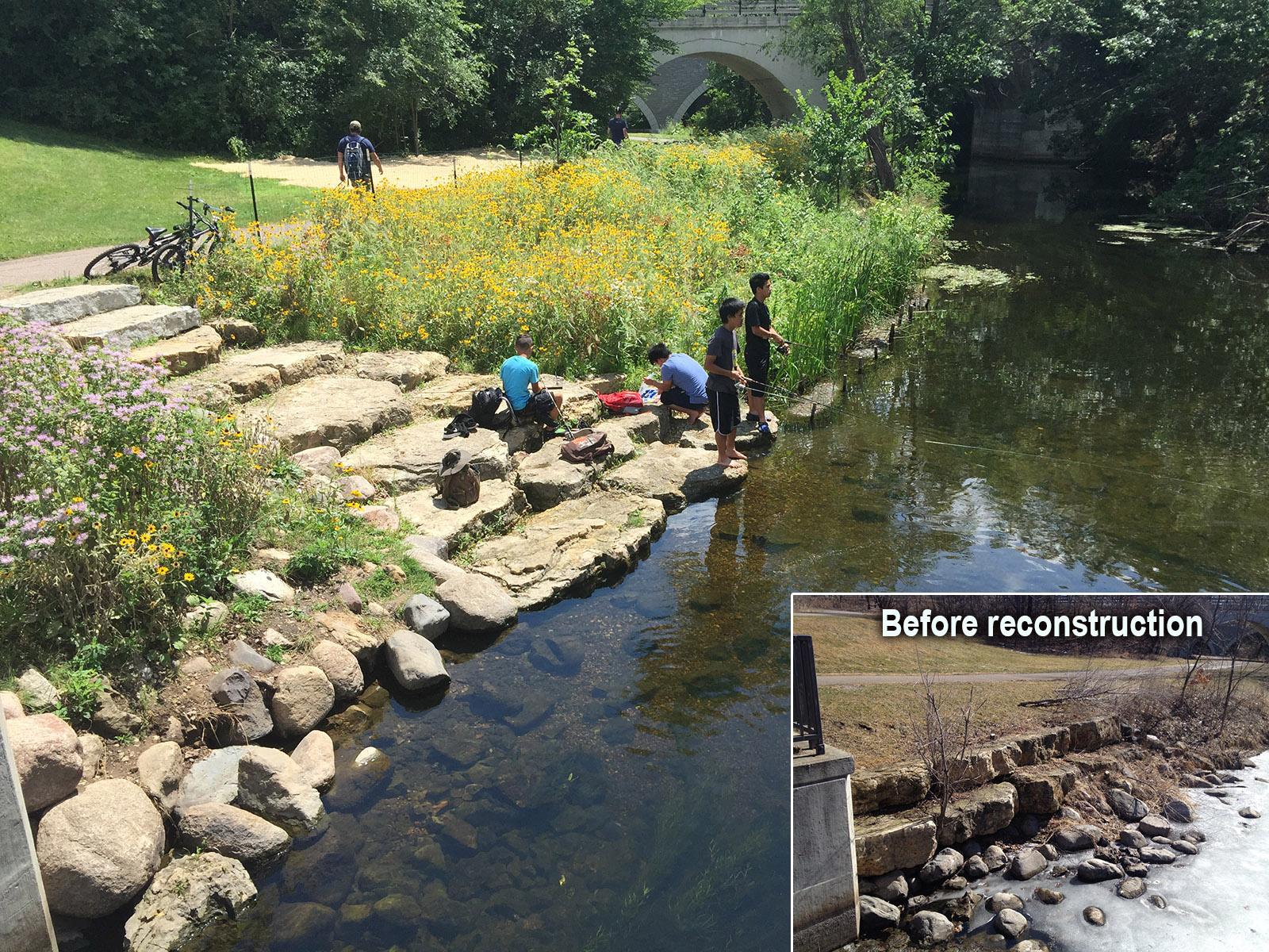 fishing at Keller Creek weir portage