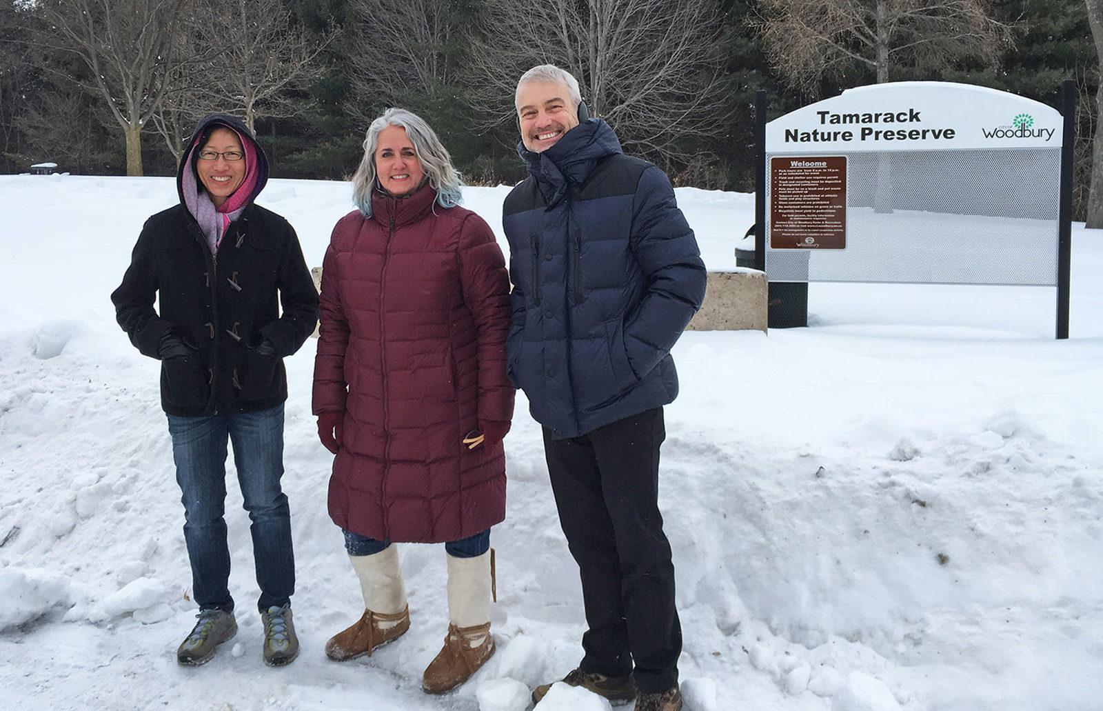 Stephanie, Dana and John at Tamarack Nature Preserve