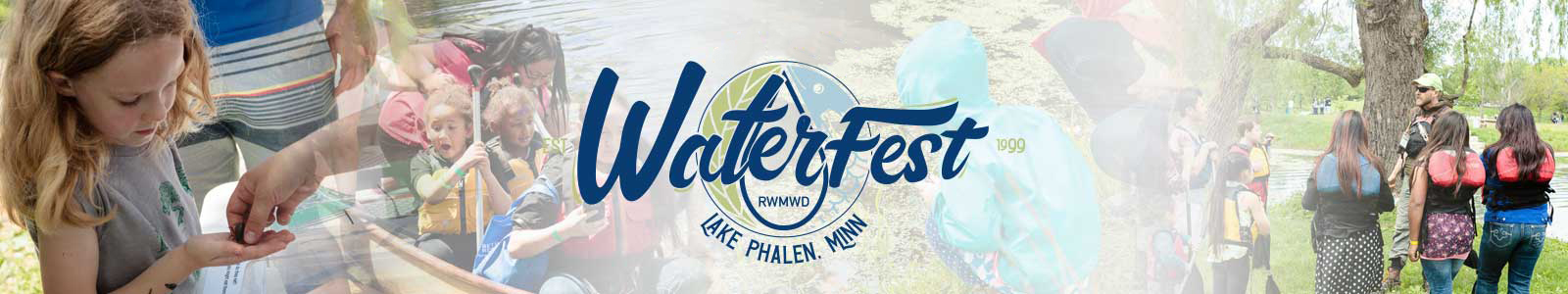 WaterFest photo collage and logo