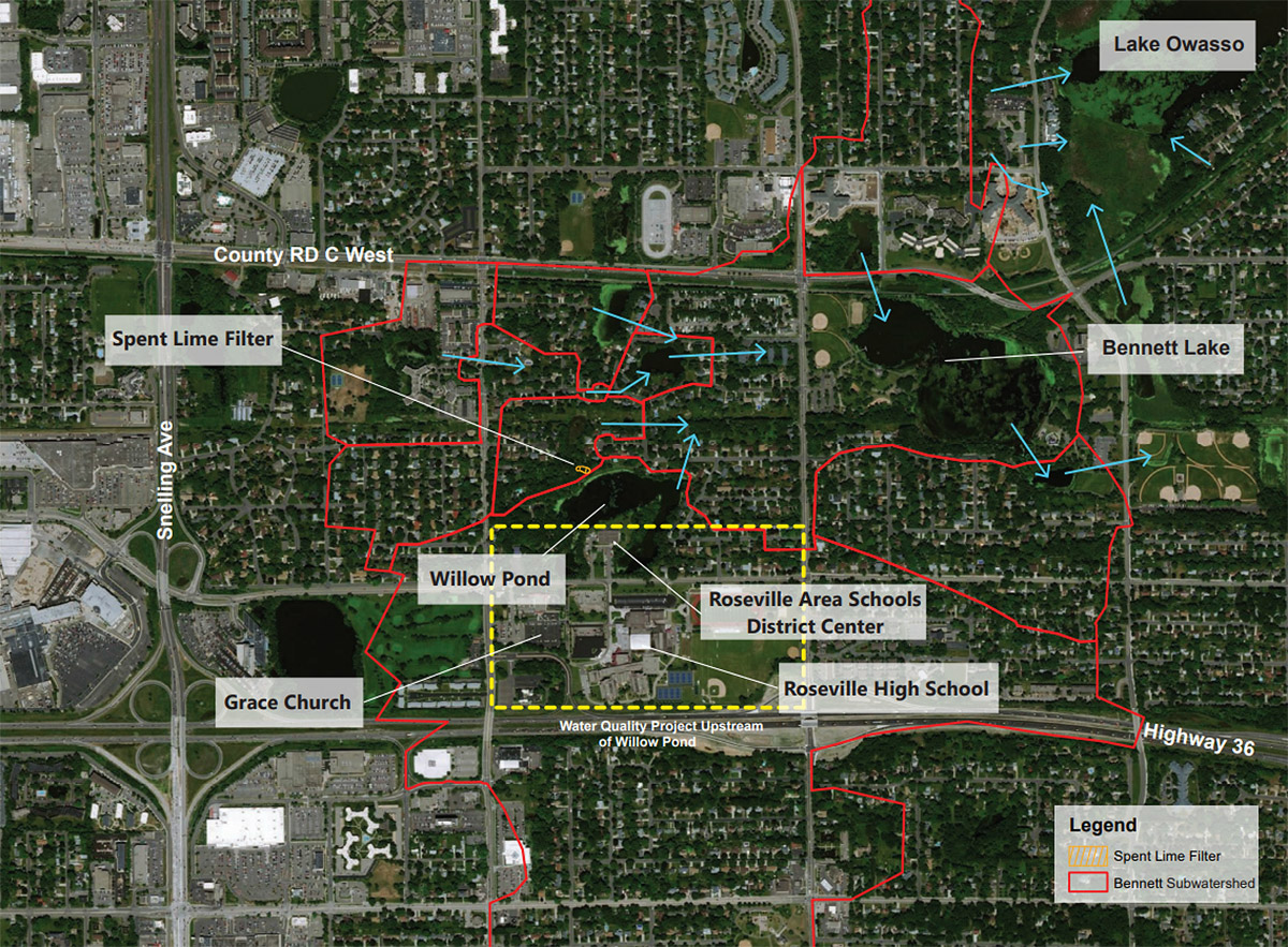 Willow Pond project map
